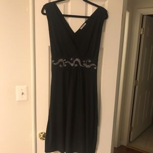 Black Dress with Metal Details